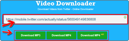 Download Twitter Videos to MP4 & MP3! Online Easy & Free